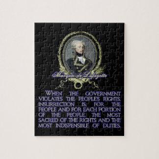 反乱の伯爵夫人deラファイエットの引用文 ジグソーパズル
