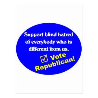 反共和党のTシャツ ポストカード