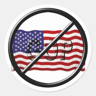 反切札、アンチGOPのアメリカのファシスト党の旗 ラウンドシール