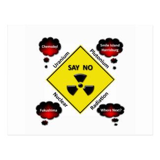 反原子力のロゴ ポストカード