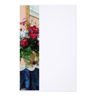 反射のシャクヤクの花束 便箋