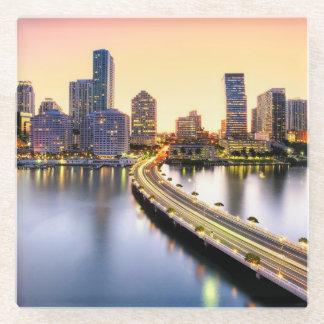 反射のマンダリン東洋のマイアミの眺め ガラスコースター