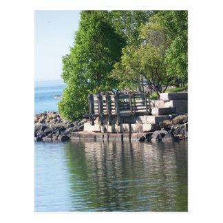 反射、スペリオル湖 ポストカード