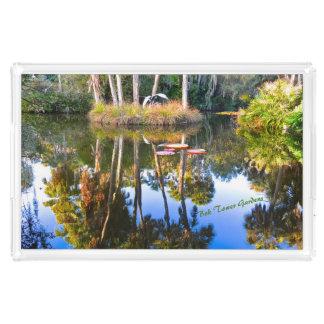 反射: 池のBokタワーの庭のやし アクリルトレー