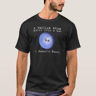 反応させないバーへのヘリウム原子の歩行 Tシャツ