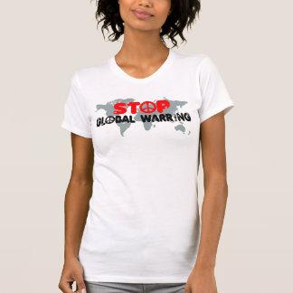 反戦争平和印の女性 Tシャツ