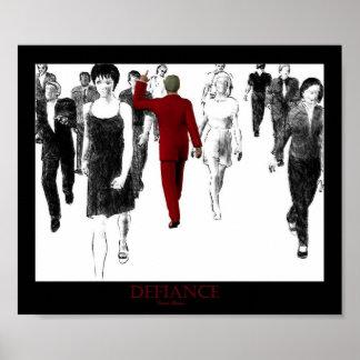 反抗の態度の赤 ポスター