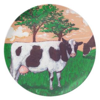 反抗的な乳牛 プレート