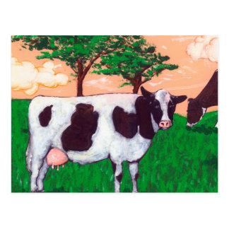 反抗的な乳牛 ポストカード