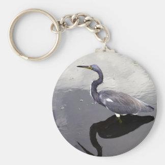 反映される白鷺 キーホルダー