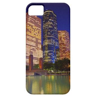 反映される都心のヒューストンの超高層ビル iPhone SE/5/5s ケース