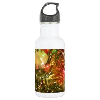 反映のクリスマス ウォーターボトル