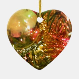 反映のクリスマス セラミックオーナメント