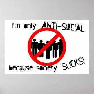 反社会的なポスター ポスター