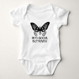 反社会的な蝶 ベビーボディスーツ