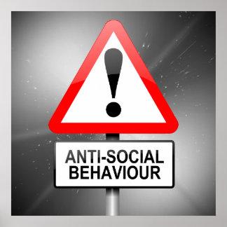 反社会的な警告 ポスター