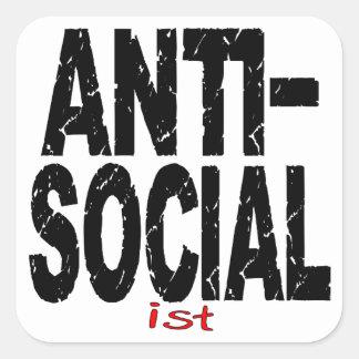 反社会的なIst (アンチ社会主義) スクエアシール
