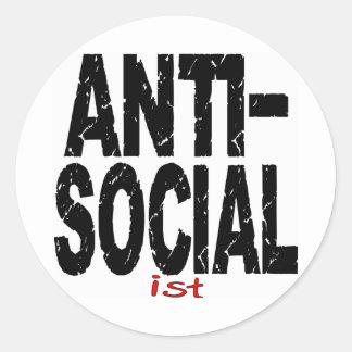 反社会的なIst (アンチ社会主義) ラウンドシール