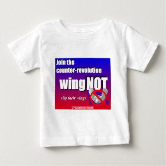 反革命を結合して下さい、蝶ナットの翼を切て下さい ベビーTシャツ