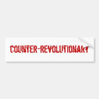 反革命主義者のバンパーステッカー バンパーステッカー