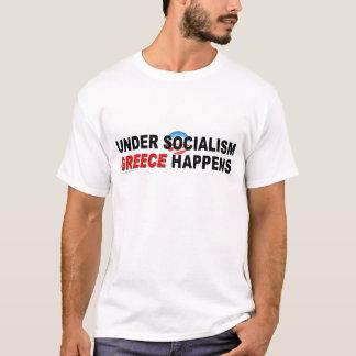 """反""""社会主義""""のの下のオバマTシャツ Tシャツ"""