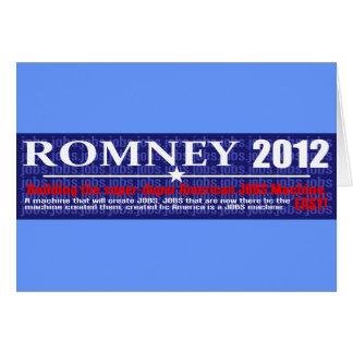 反JOBミット・ロムニーの2012年の大統領の機械設計 カード