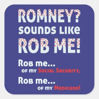 """反Romney """"Romney Robのように鳴ります私を!""""は 政治 スクエアシール"""