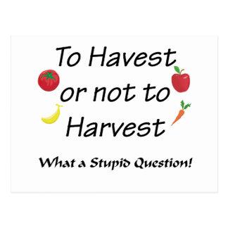 収穫にまたは収穫しないため ポストカード