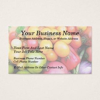 収穫のタイムのトマト! 名刺