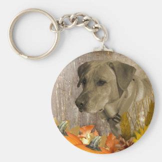 収穫のラブラドル・レトリーバー犬 キーホルダー