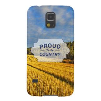 収穫の後の小麦畑 GALAXY S5 ケース