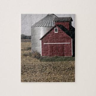 収穫の後の田園農場場面 ジグソーパズル