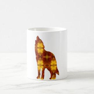 収穫月のオオカミのマグ コーヒーマグカップ