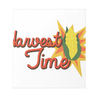 収穫期のトウモロコシ ノートパッド