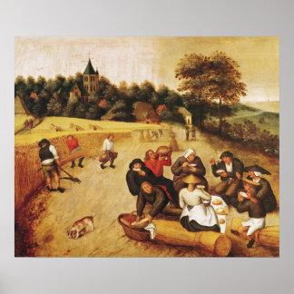 収穫機の食事 ポスター