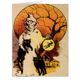 収穫者の黒猫(ヴィンテージハロウィン) カード