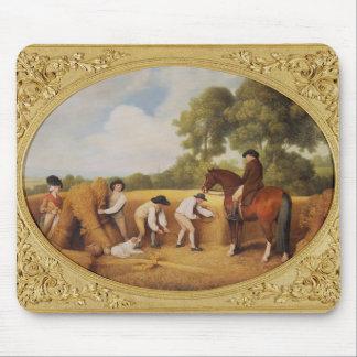 収穫者1795年(ビスケットのearthenwのエナメル マウスパッド