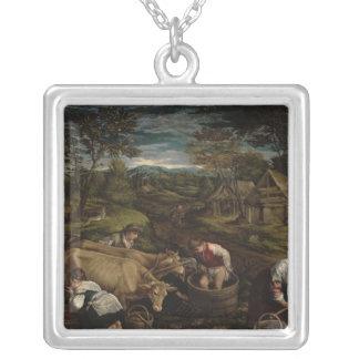 収穫、1576年 シルバープレートネックレス