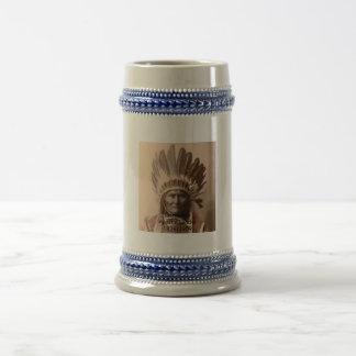 収集品-有名なネイティブアメリカンの戦士 ビールジョッキ