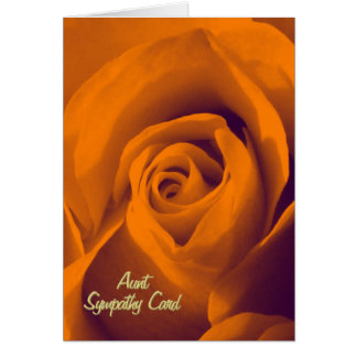叔母さんの悔やみや弔慰カード カード