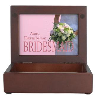 叔母さんは新婦付添人のブライダルの花束です ジュエリーボックス