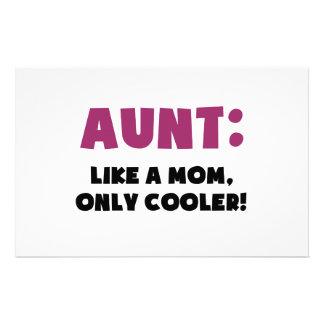 叔母さん: よりクールなだけお母さんのように、 便箋