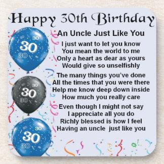 叔父さんの詩-第30誕生日 コースター