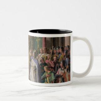 取っているフランスのフィリップAugustus王 ツートーンマグカップ