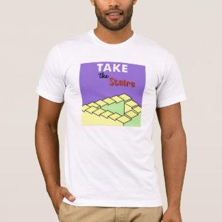 取って下さい階段(人)を Tシャツ