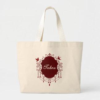 取られたかわいいゴシック様式バレンタインデーのトートバック ラージトートバッグ