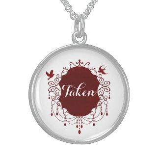 取られたかわいいゴシック様式バレンタインデーのネックレス スターリングシルバーネックレス