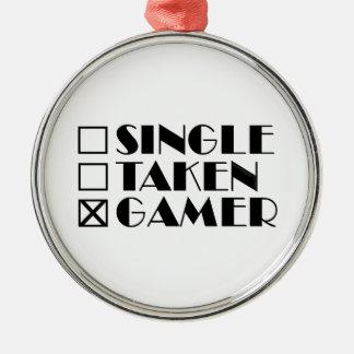 取られるまたはゲーマー選抜して下さい メタルオーナメント