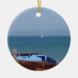 取り引きのボート セラミックオーナメント