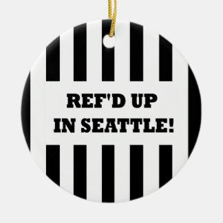 取り替えの審判員が付いているシアトルのRef'd セラミックオーナメント